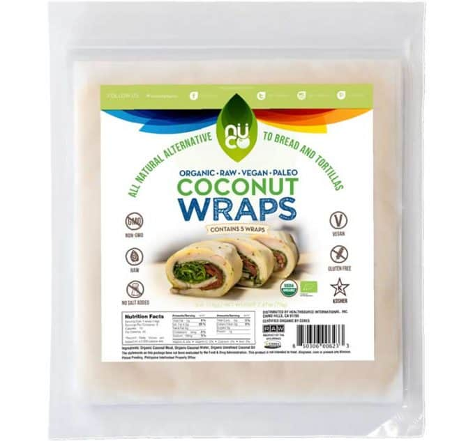 Nuco raw coconut wraps