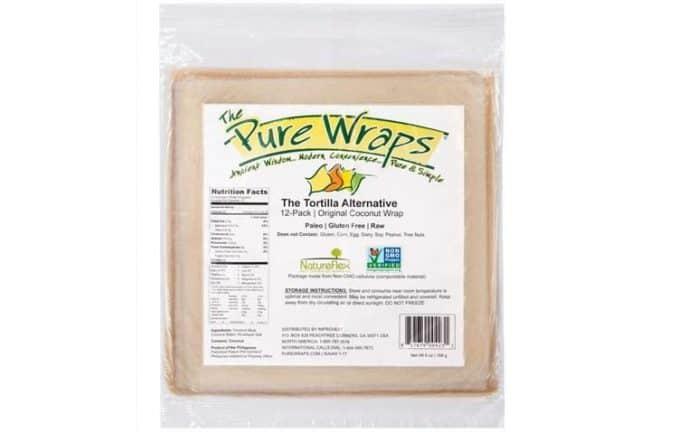 The Pure Wraps tortilla alternative