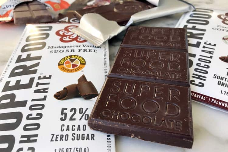 the best sugar free chocolate bars on table
