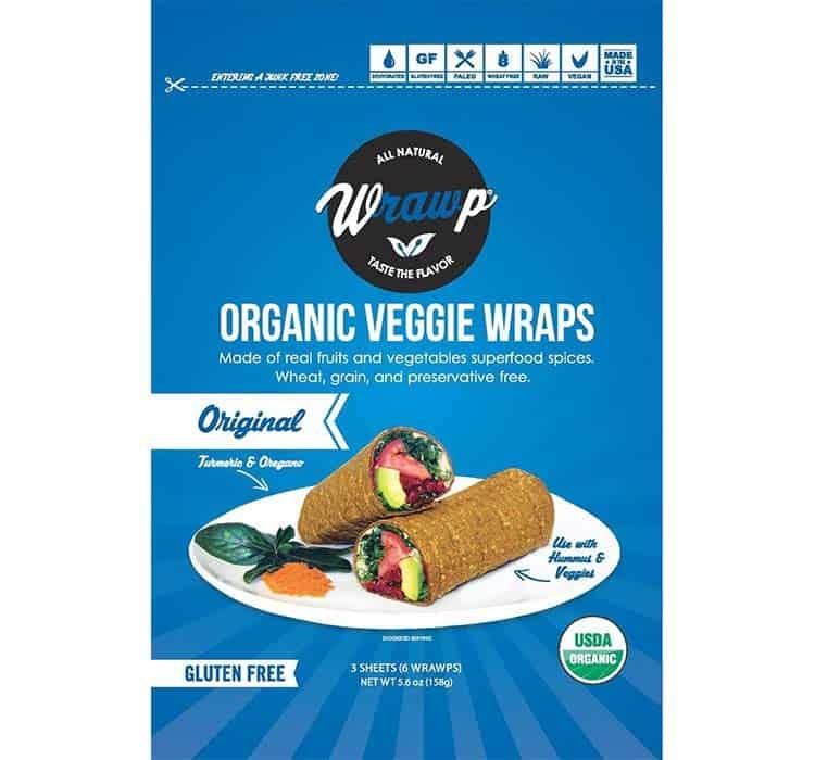 Wrawp veggie wraps, original flavor