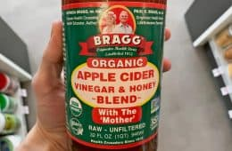 organic Braggs apple cider vinegar with honey