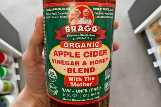 organic Braggs apple cider vinegar with honey