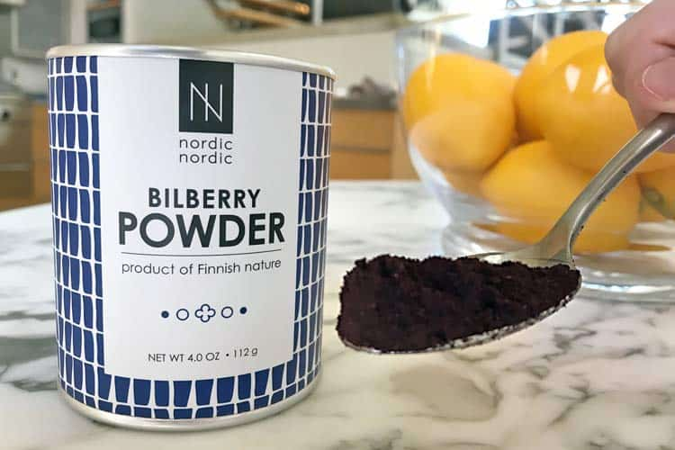 raw bilberry powder