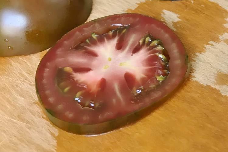 brown tomato slice