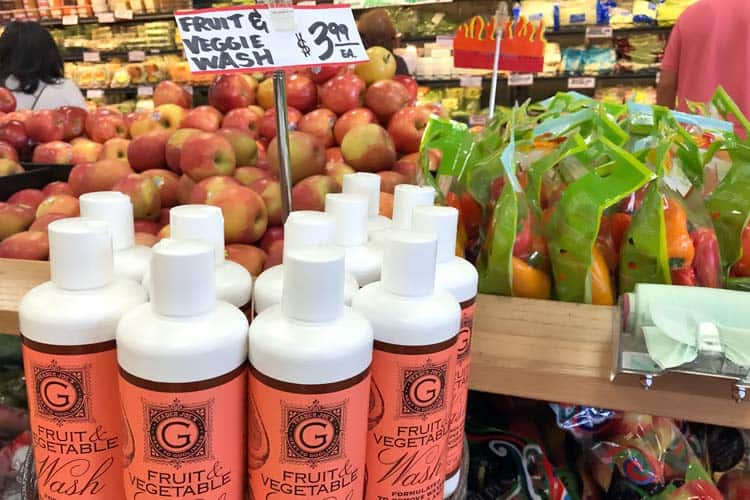 fruit wash sold at grocery store