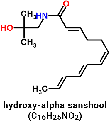 hydroxy alpha sanshool molecule structure and chemical formula