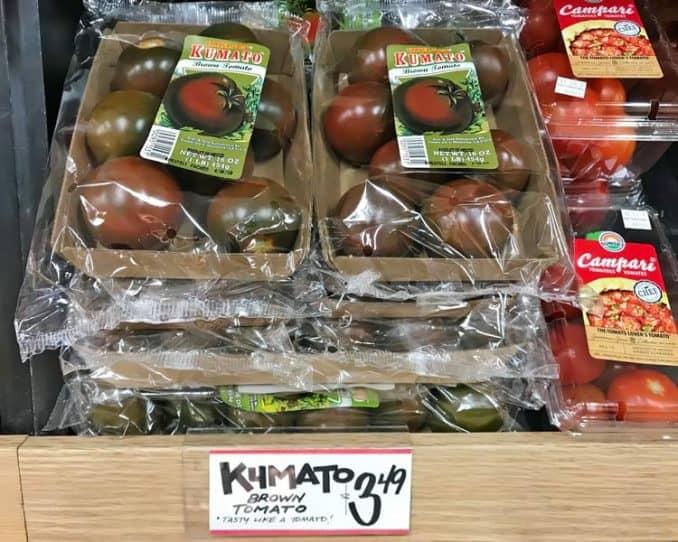 Kumato costing $3.49 at Trader Joe's