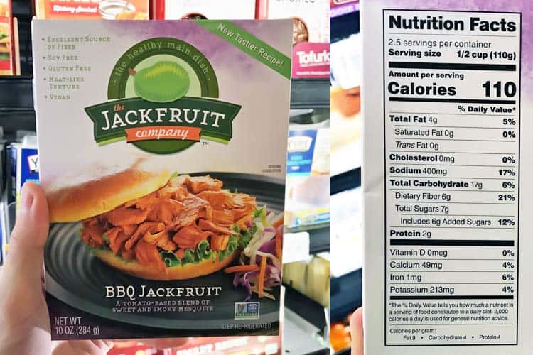 BBQ jackfruit nutrition facts