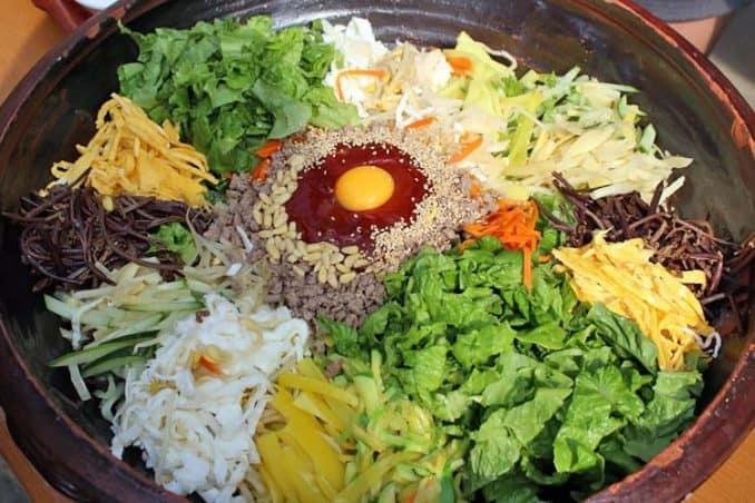 what an authentic Korean bibimbap looks like