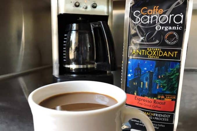 Caffe Sanora organic Healthy Roast coffee
