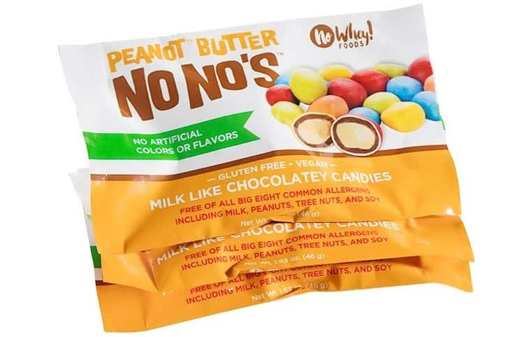 dairy-free Reese's Pieces alternative from No Whey Chocolates
