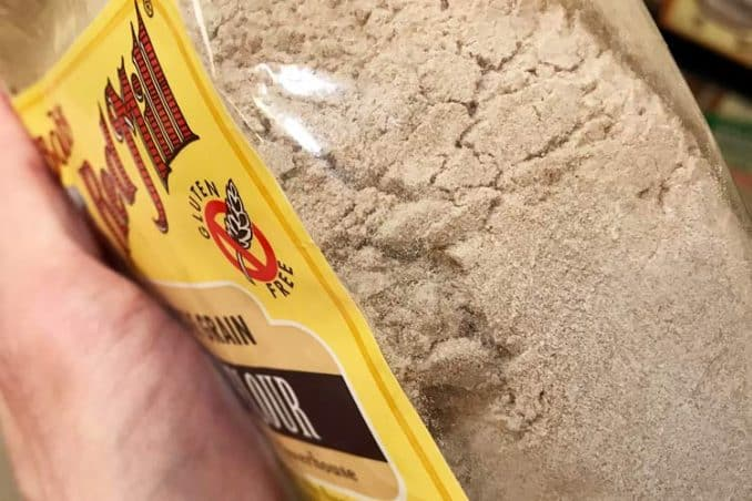 what the texture of gluten free teff flour looks like