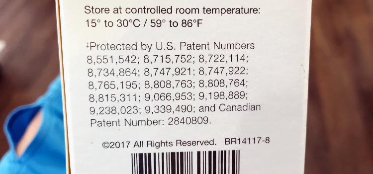 list of patents and instructions on how to store SeroVital at room temperature without refrigeration