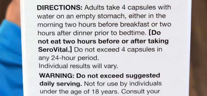 SeroVital HGH recommended dosage instructions