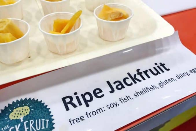 ripe jackfruit is gluten free, soy free, and vegan