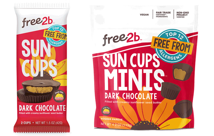 Free2B sunflower butter cups and mini cups