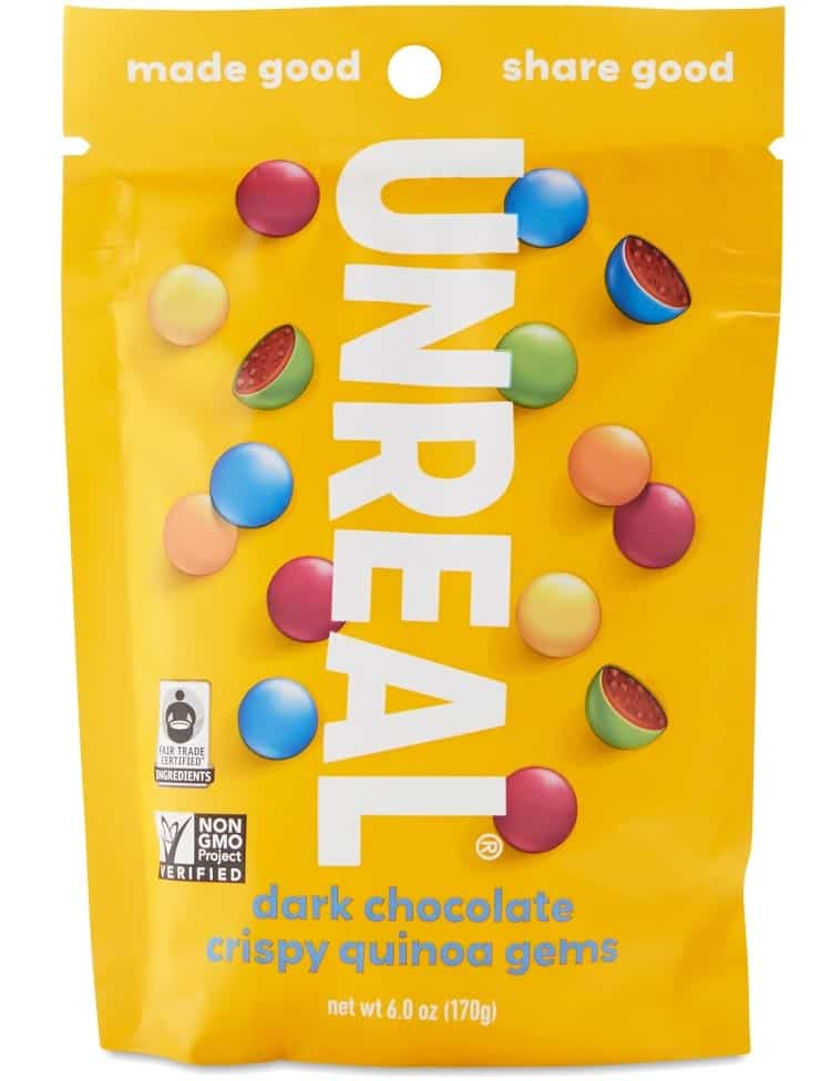 vegan M&M's substitute by Unreal brand