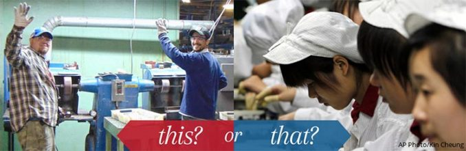 American vs. Chinese factory workers