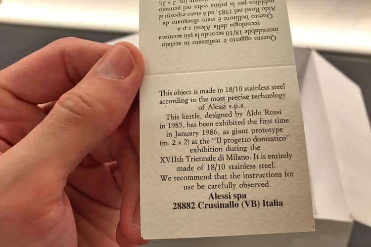 Aldo Rossi kettle history