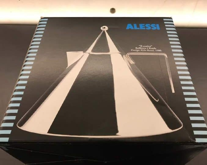 Alessi box with Italian writing on it