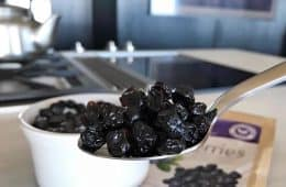 spoonful of dried blueberries