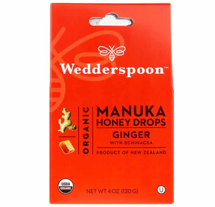 Wedderspoon Manuka honey organic cough drops