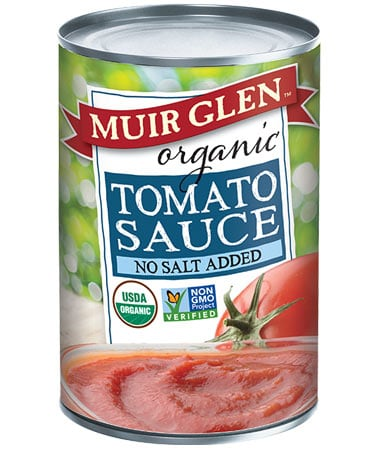 Muir Glen organic tomato sauce no salt added