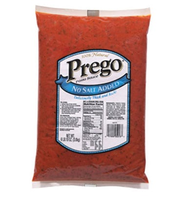 Prego no salt added pasta sauce
