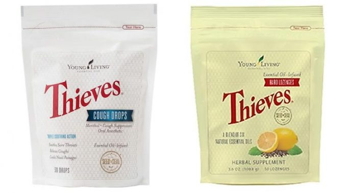 Young Living Thieves cough drops and hard lozenges