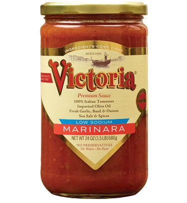 Victoria low sodium marinara