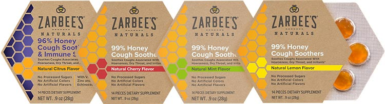 Zarbees natural cough drops made without refined sugar