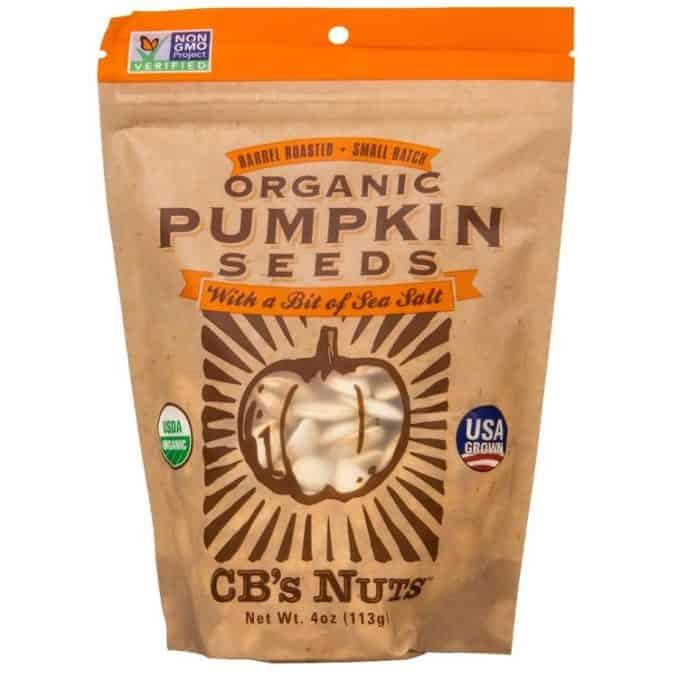 CB's Nuts pumpkin seeds USA grown organic