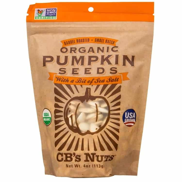CB's Nuts pumpkin seeds USA grown organic