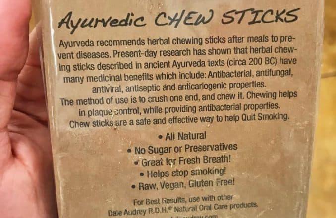 health benefits of chew sticks