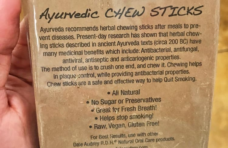 health benefits of chew sticks
