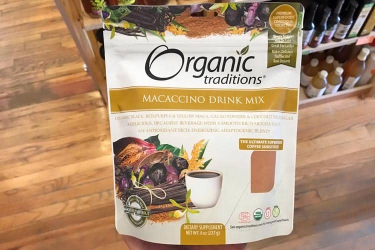 Organic Traditions hot maca drink