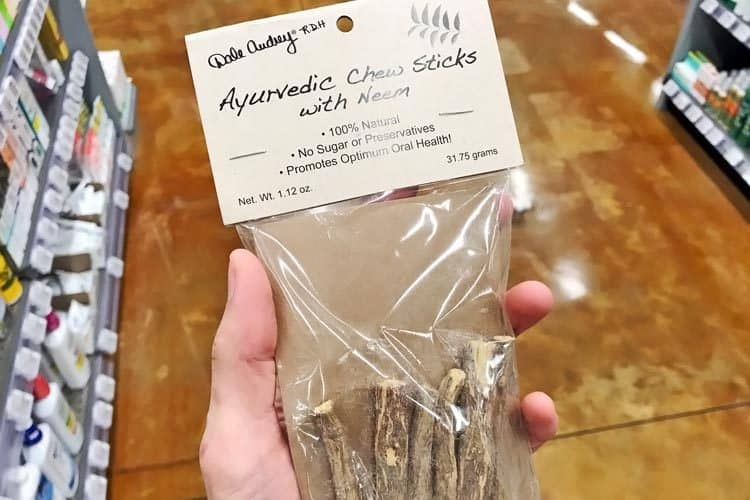 Ayurvedic neem chew sticks