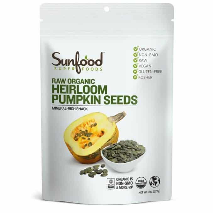 Sunfood raw organic Austrian heirloom pumpkin seeds