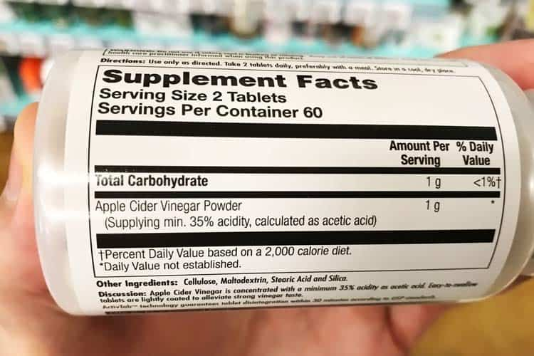 ACV pill instructions and daily dosage of how many to take