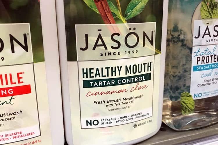 Jason healthy mouthwash tarter control cinnamon clove