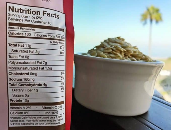 watermelon seed nutrition facts label