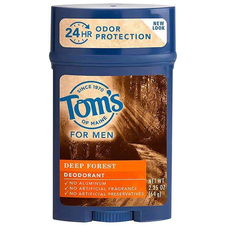 Tom's deodorant for men, deep forest scent