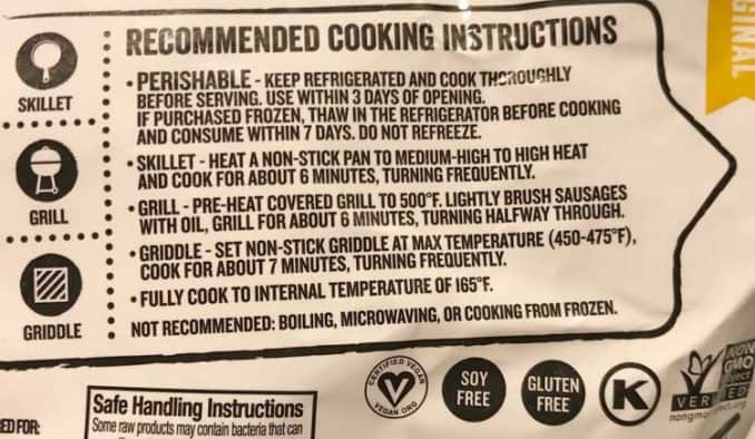 instructions for how to cook vegan sausage