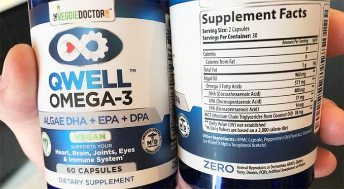 Qwell omega 3 supplement label