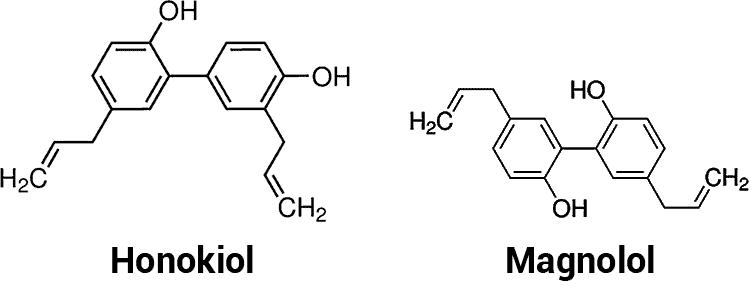 honokiol and magnolol molecular structures
