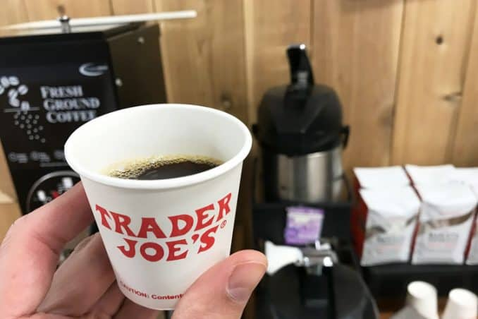 Trader Joe's 3 oz cup of coffee