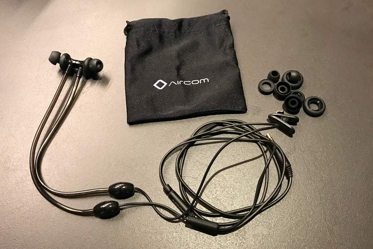 Aircom headphones with mic