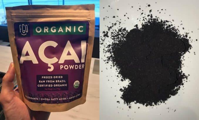 Feel Good Organics acai powder