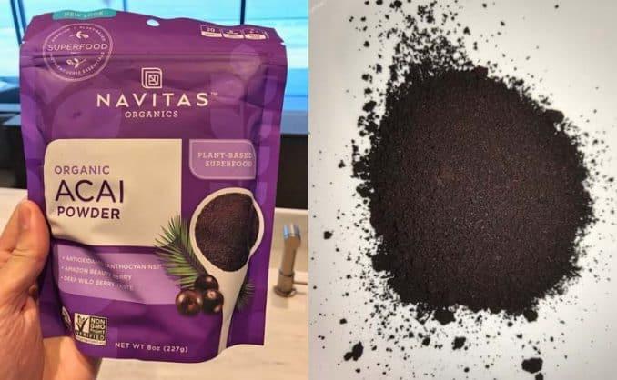 close-up photo of Navitas freeze-dried acai powder