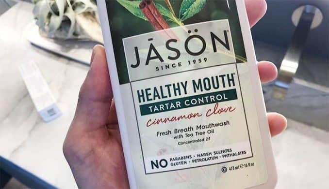 Jason Healthy Mouth Tarter Control cinnamon clove mouthwash